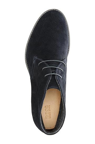 绒面革系带鞋 'Cassel',  401_暗蓝色