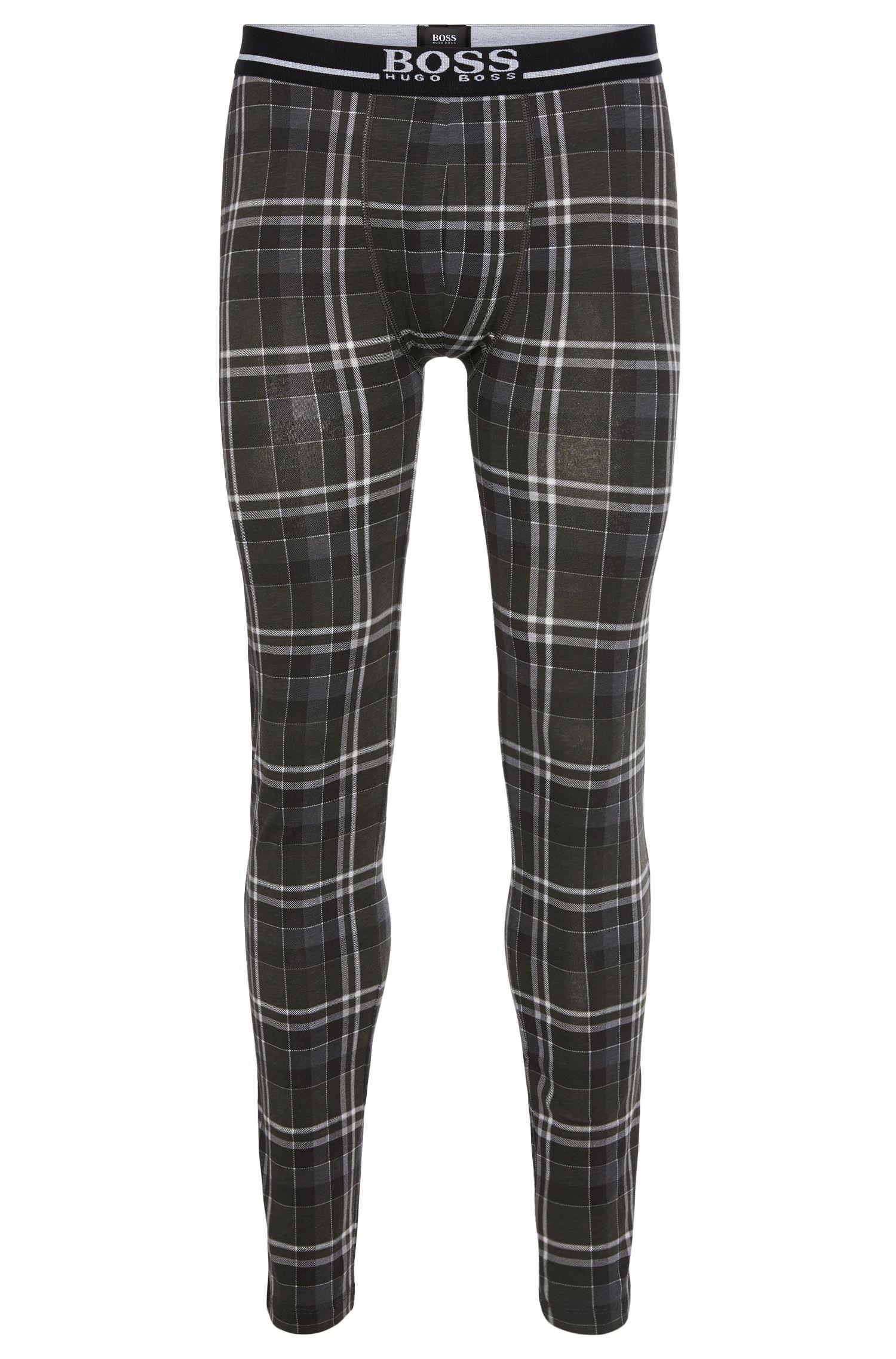 Lange Unterhose aus elastischem Baumwoll-Mix: 'Long John 24 Print'
