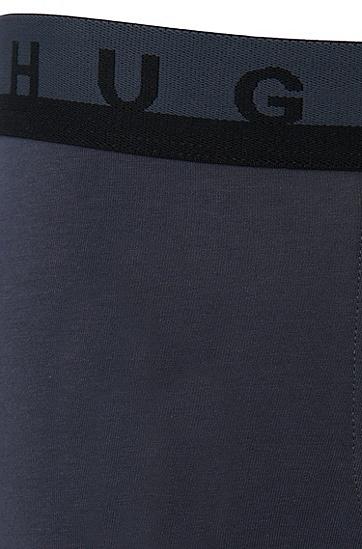Unifarbene Boxershorts aus Stretch-Baumwolle: 'Boxer Motion', Dunkelgrau