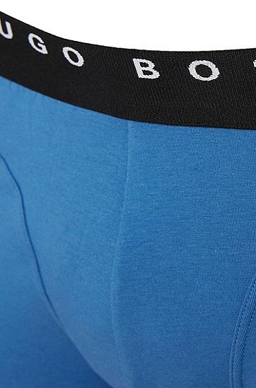 Unifarbene Boxershorts aus Stretch-Baumwolle im 2er-Pack: 'Cyclist 2P FN Solid', Hellblau