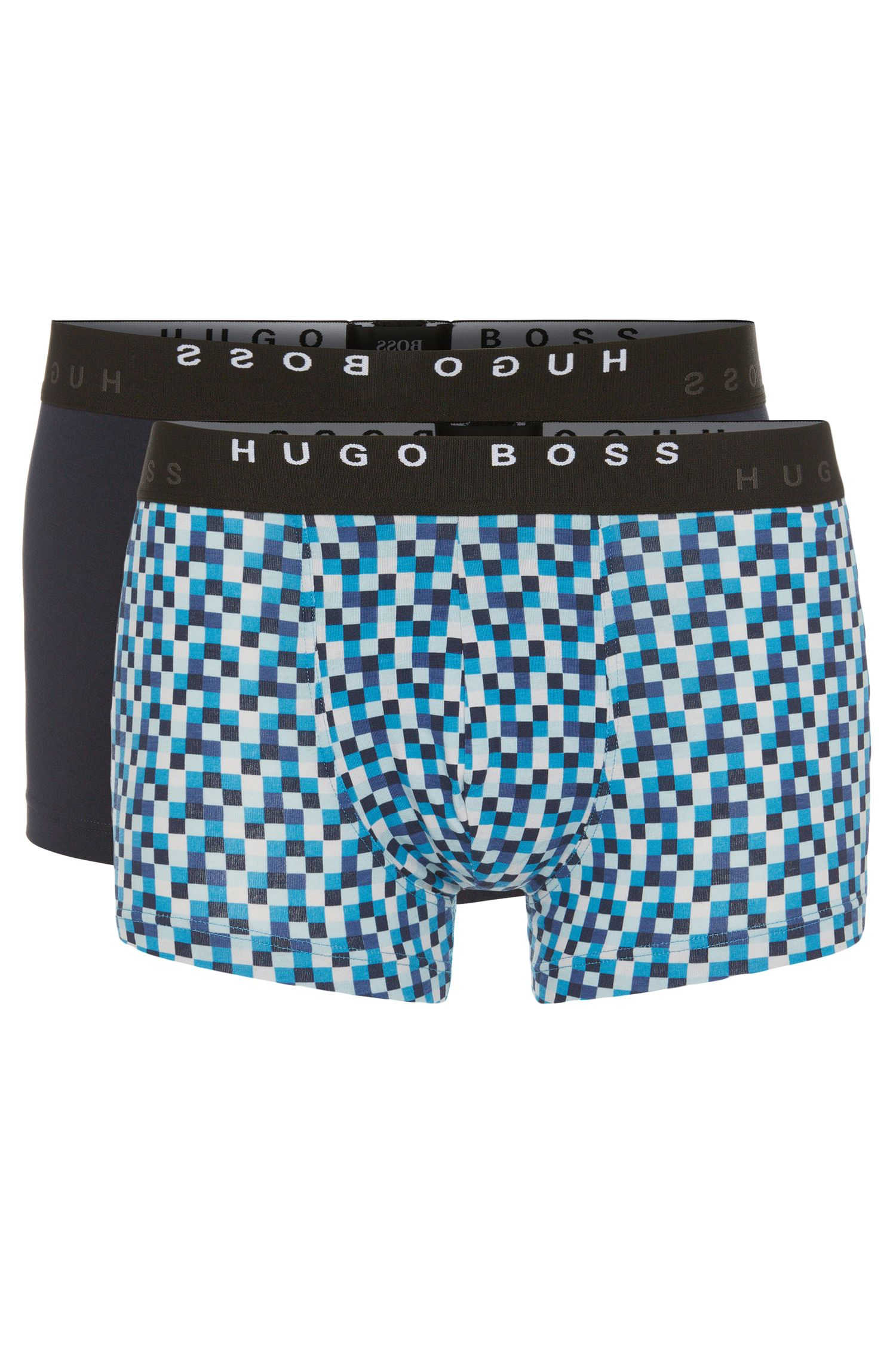 Cotton-blend boxer shorts in a double pack: 'Boxer 2P FN Print'