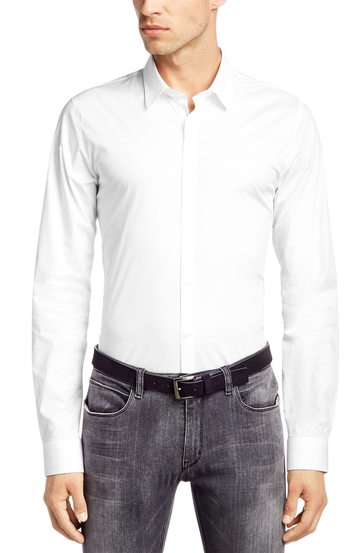 Chemise business coupe Extra Slim Fit « Efi » avec col Kent