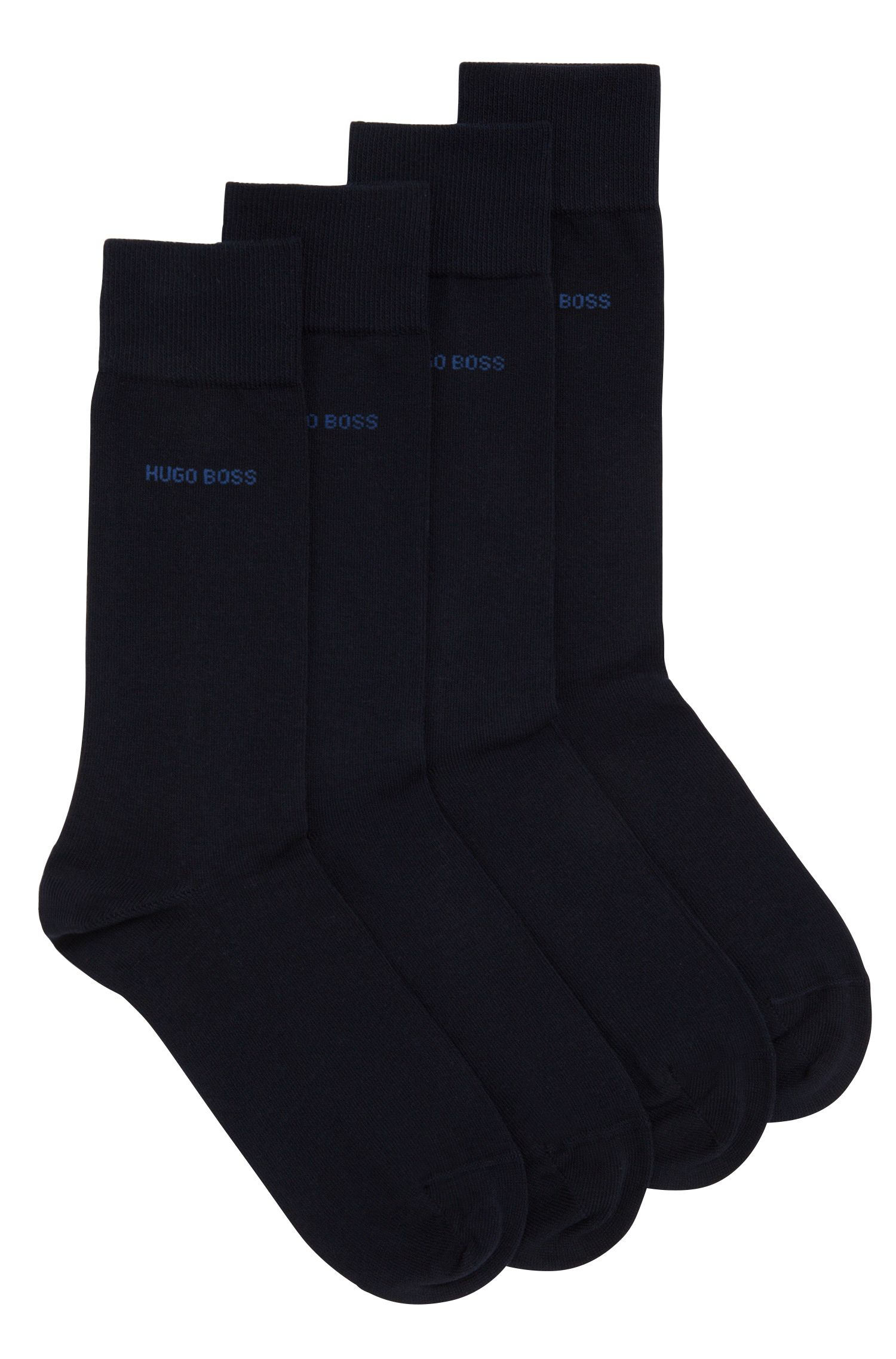 Two pack of regular-length cotton blend socks by BOSS Menswear
