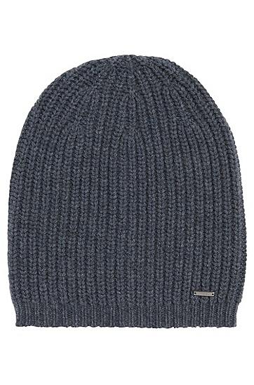 Mütze aus reiner Schurwolle: 'Xaffano', Grau