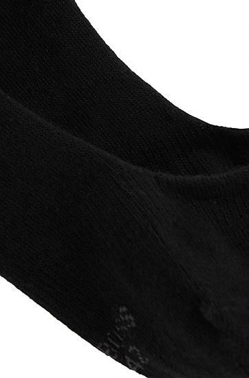 Unifarbene Füßlinge aus elastischem Baumwoll-Mix: 'Invisible Shoeliner', Schwarz