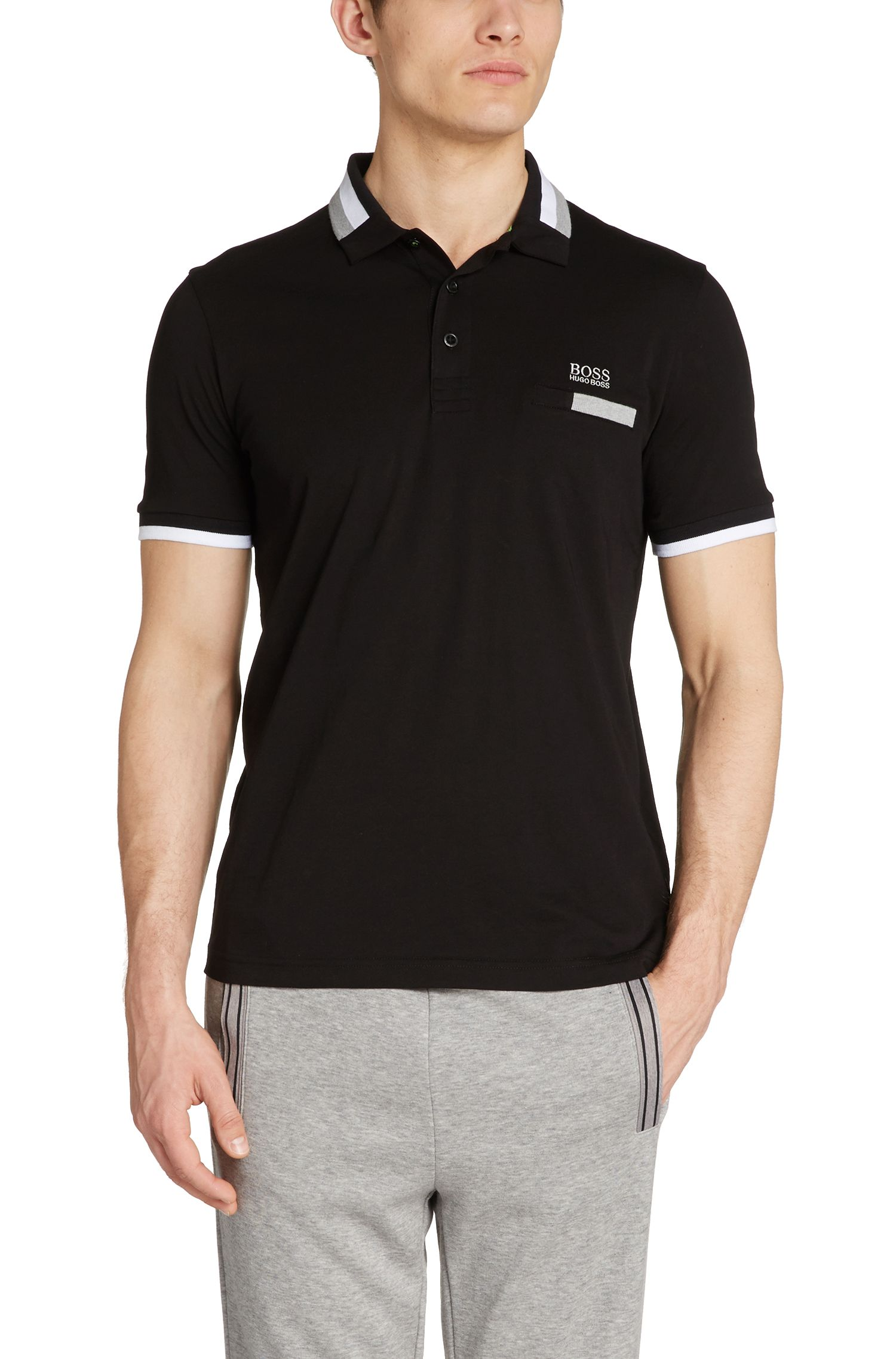 Polo de golf Regular Fit en coton extensible : « Pasey »
