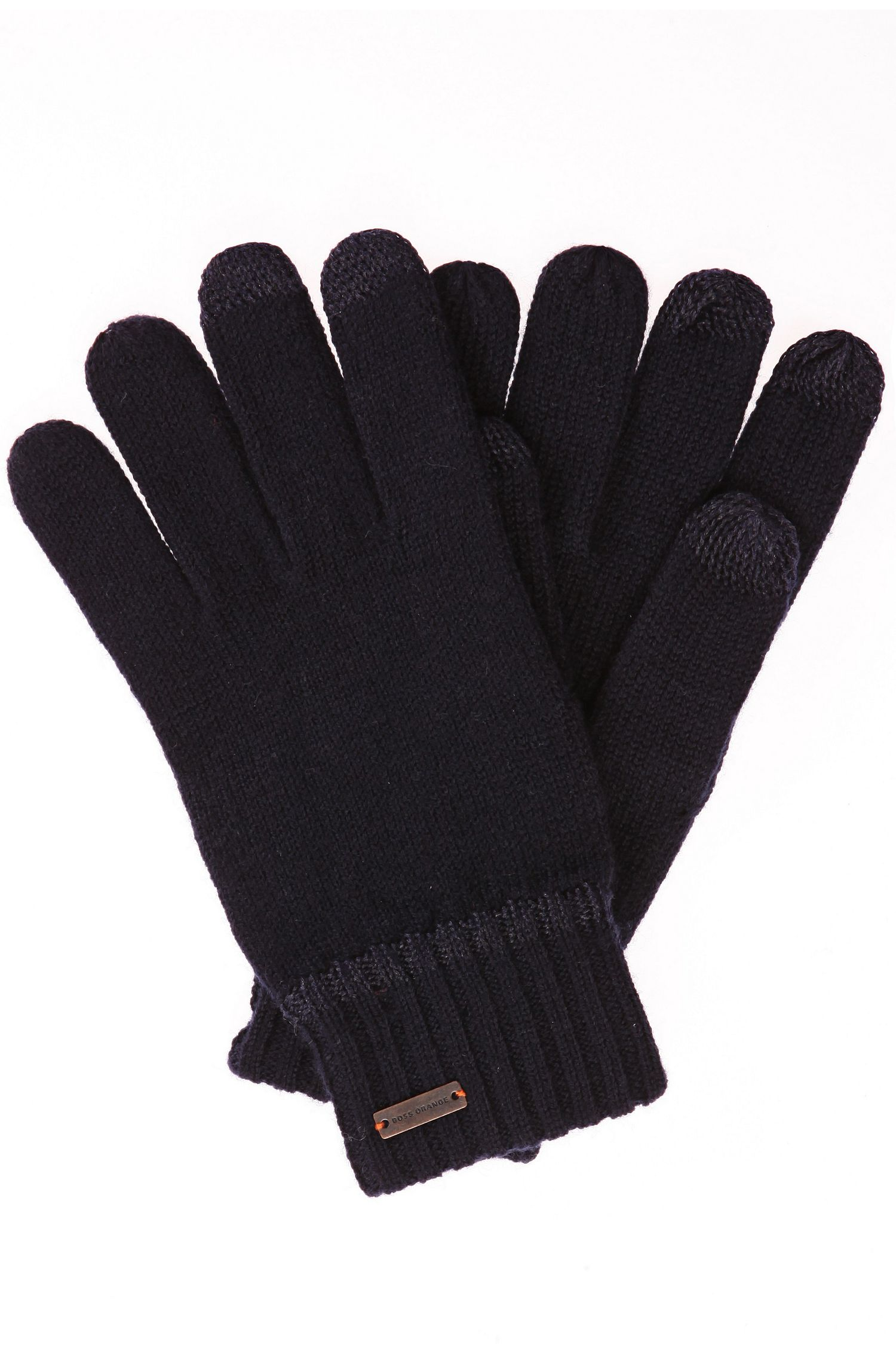 Handschoenen van een wolmix met tech-functie: 'Graas-2'