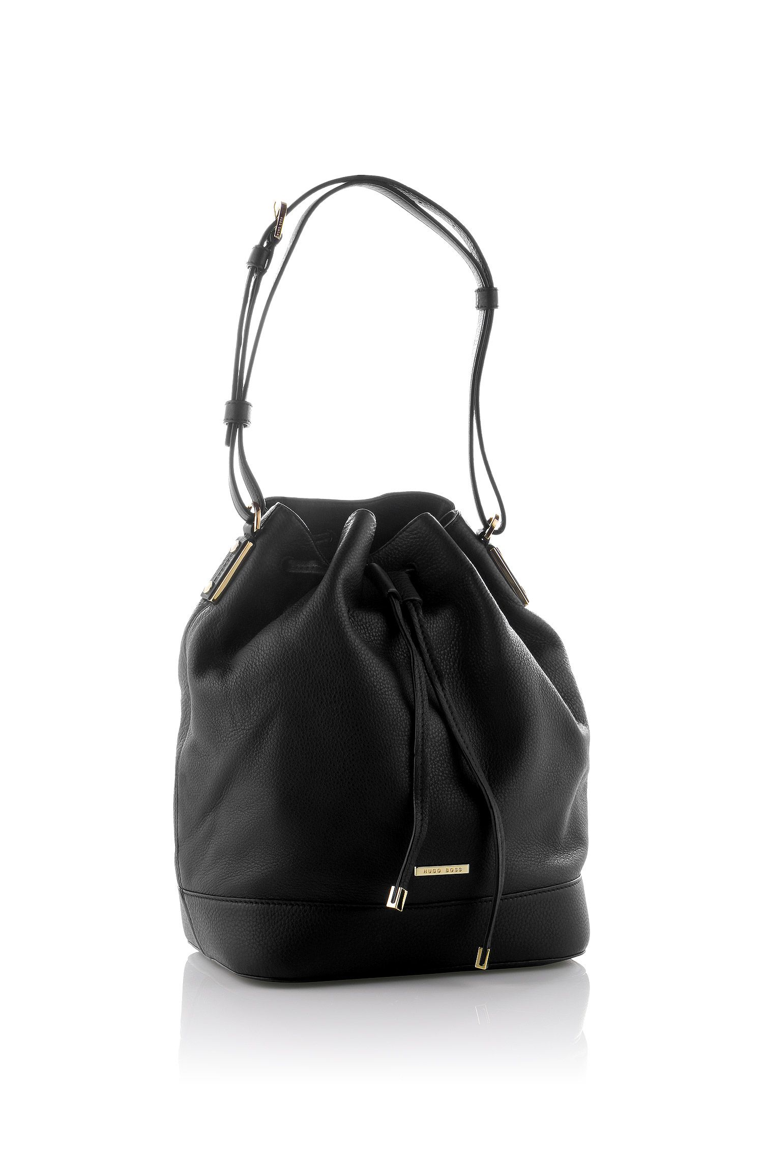 Drawstring bag 'Malinda-G' in leather