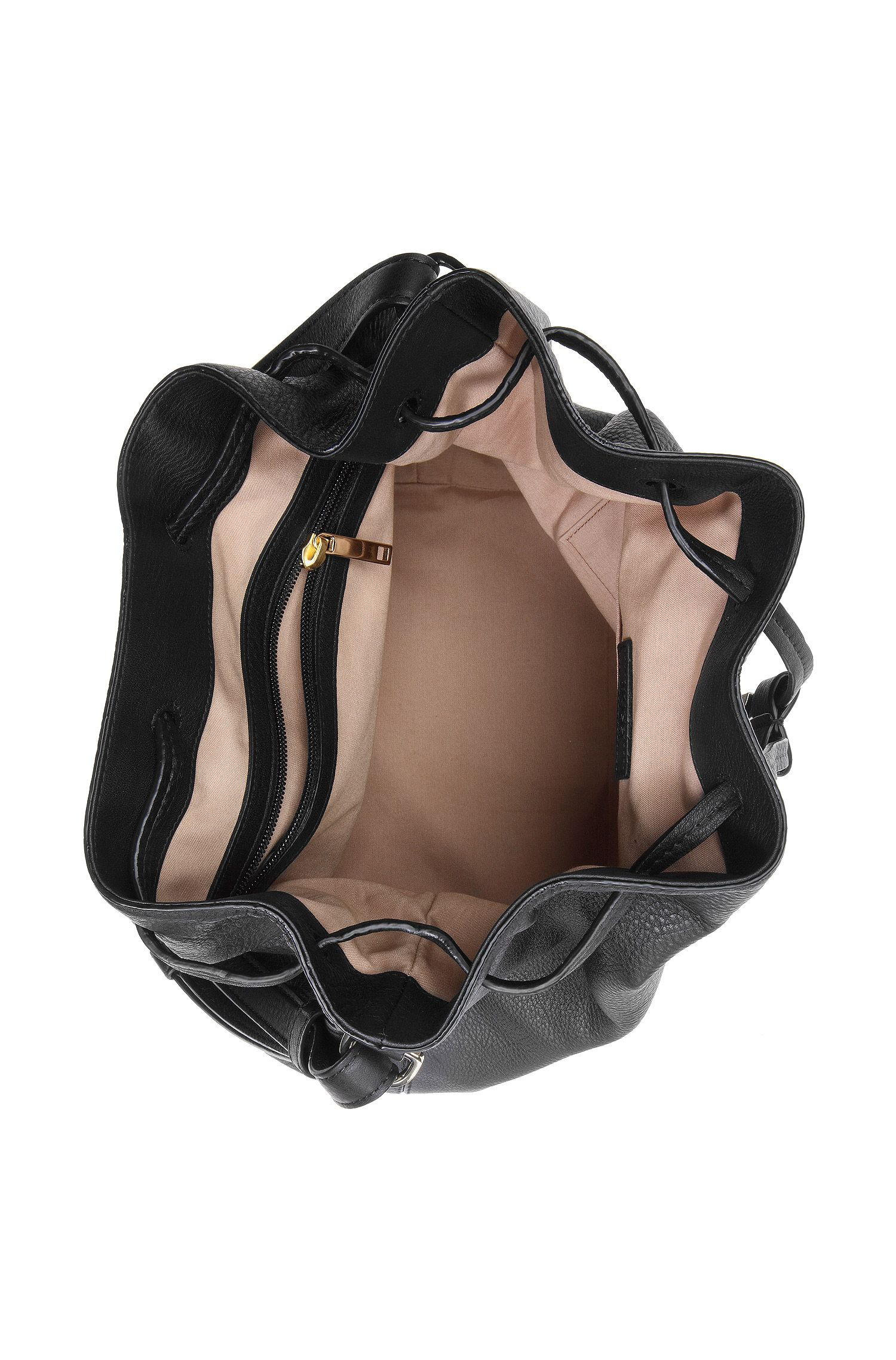 Kordelzugtasche ´Malinda-G` aus Leder