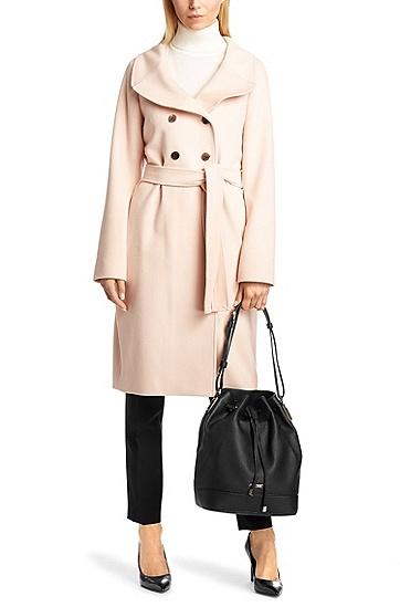 Drawstring bag 'Malinda-G' in leather, Black
