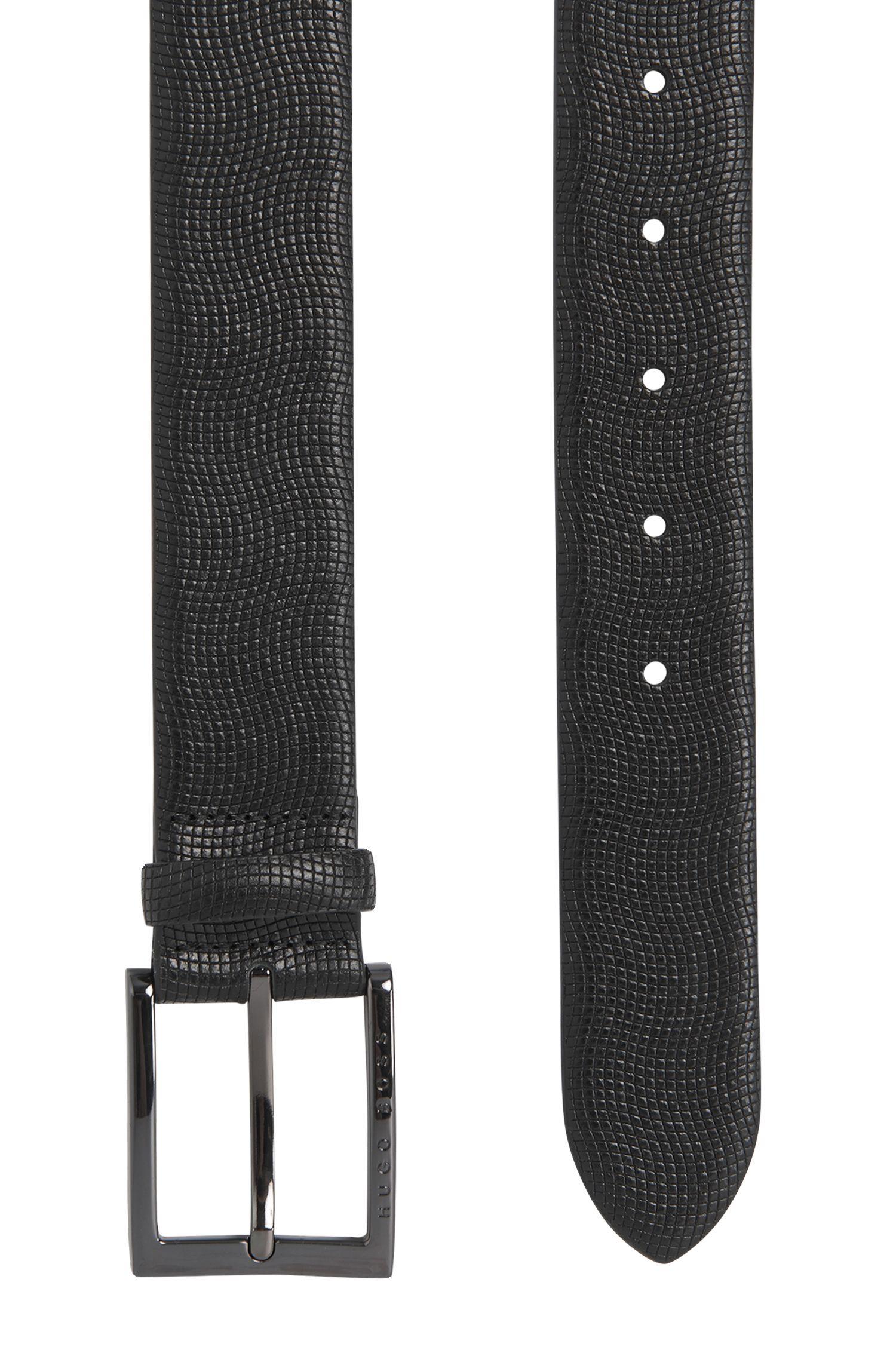 Gürtel aus strukturiertem Leder: 'Perries'