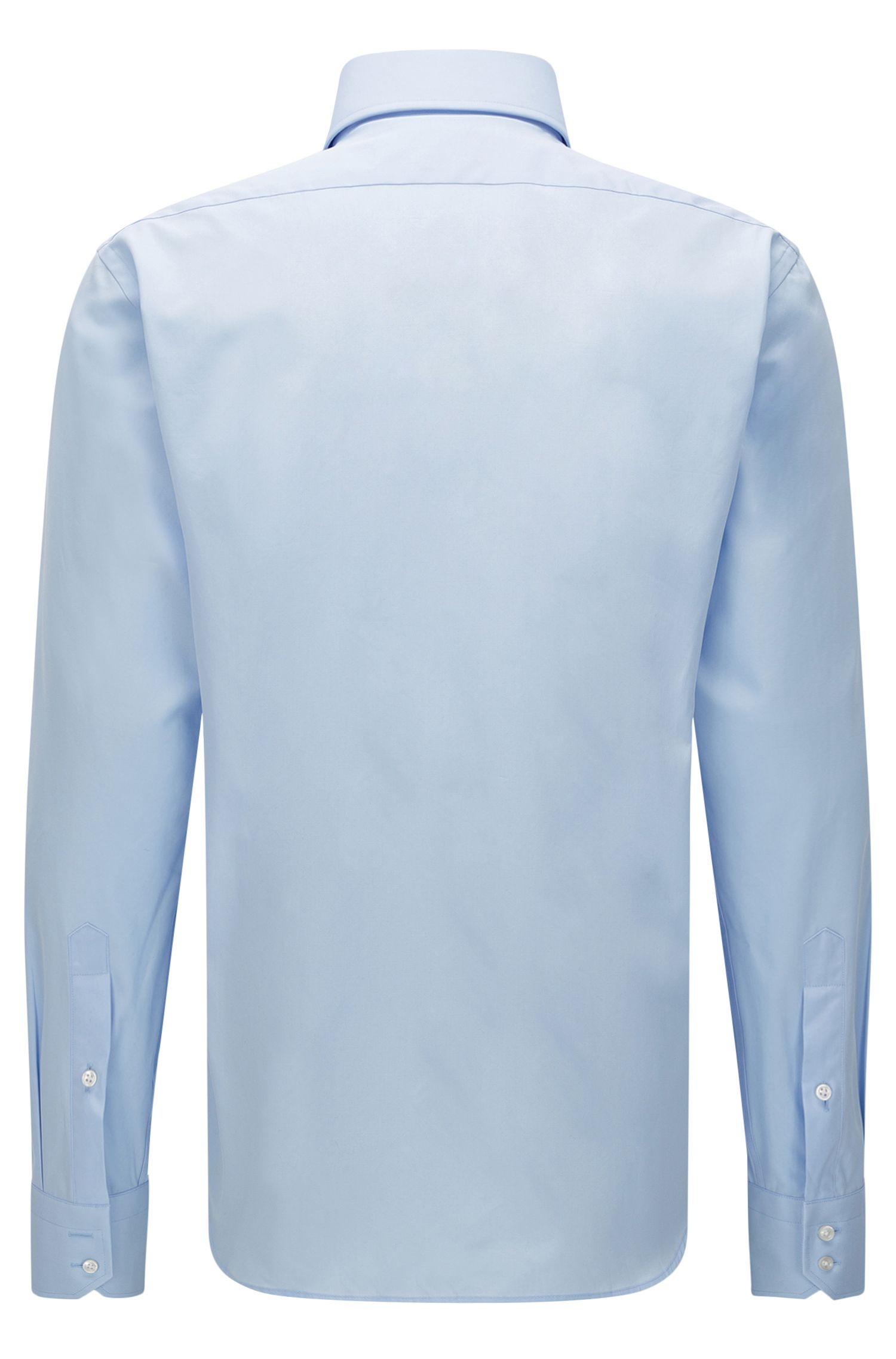 Chemise Regular Fit unie en coton : « Gerald »