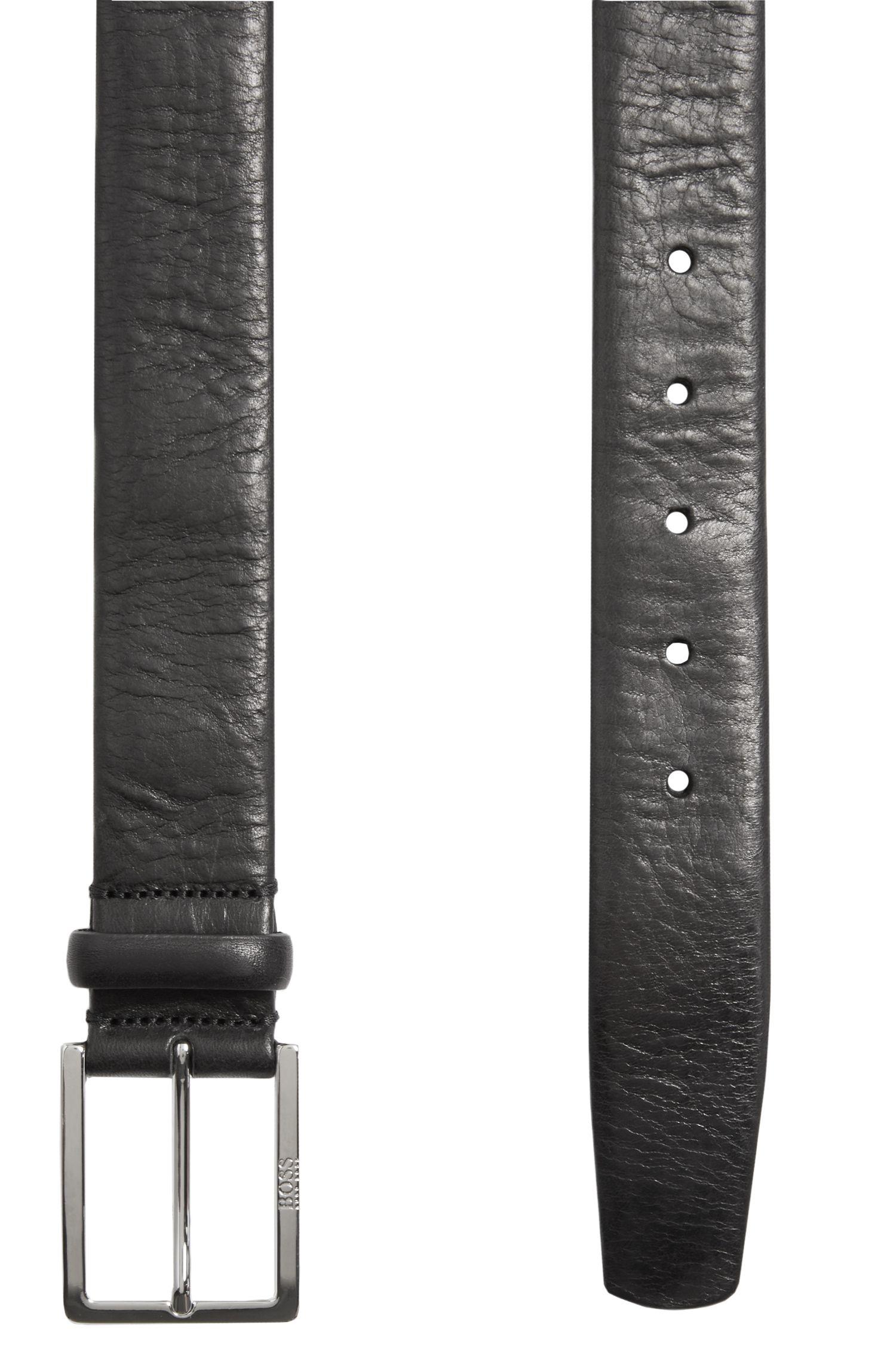 Gürtel aus geprägtem Leder mit nahtlosen Kanten: 'Luvenos'
