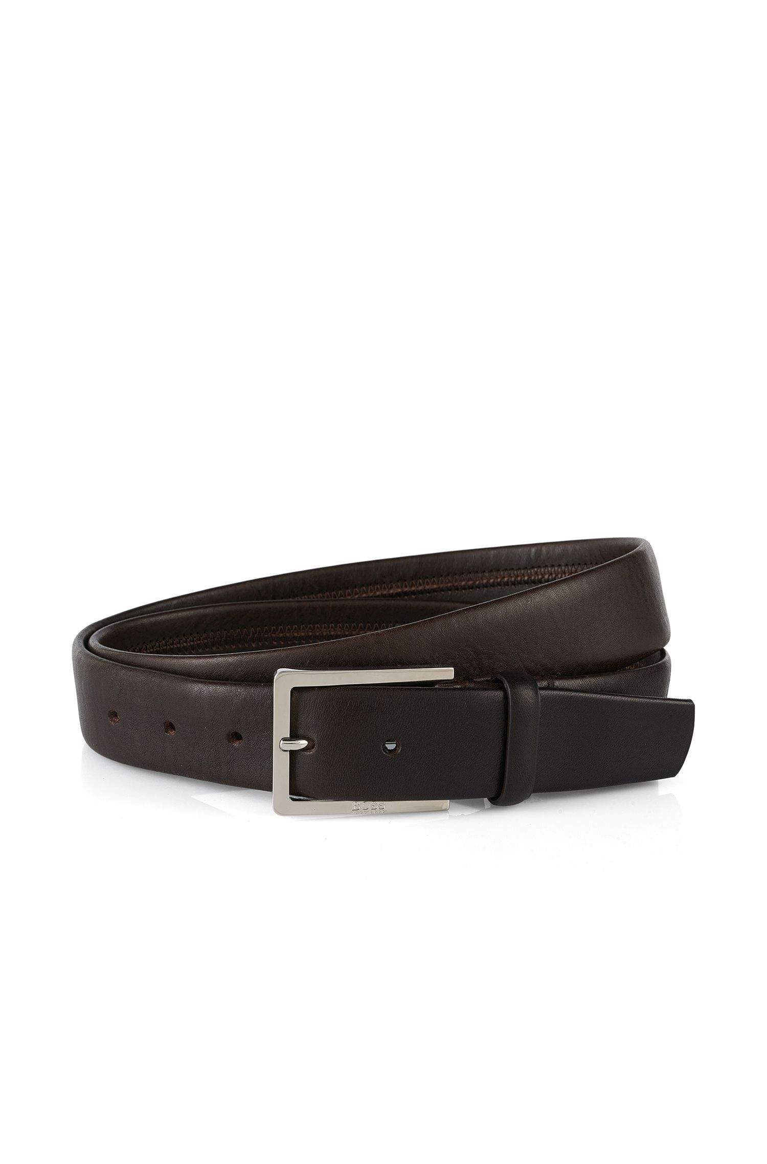 Belt in embossed leather with seamless edges: 'Luvenos'