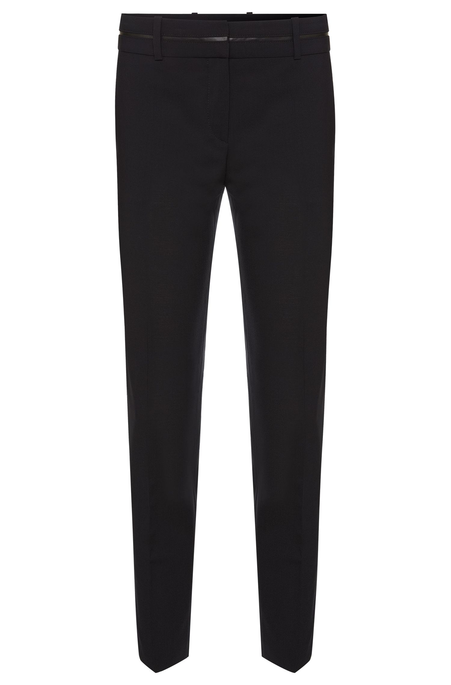 Regular-fit trousers in stretchy new wool: 'Haluna'