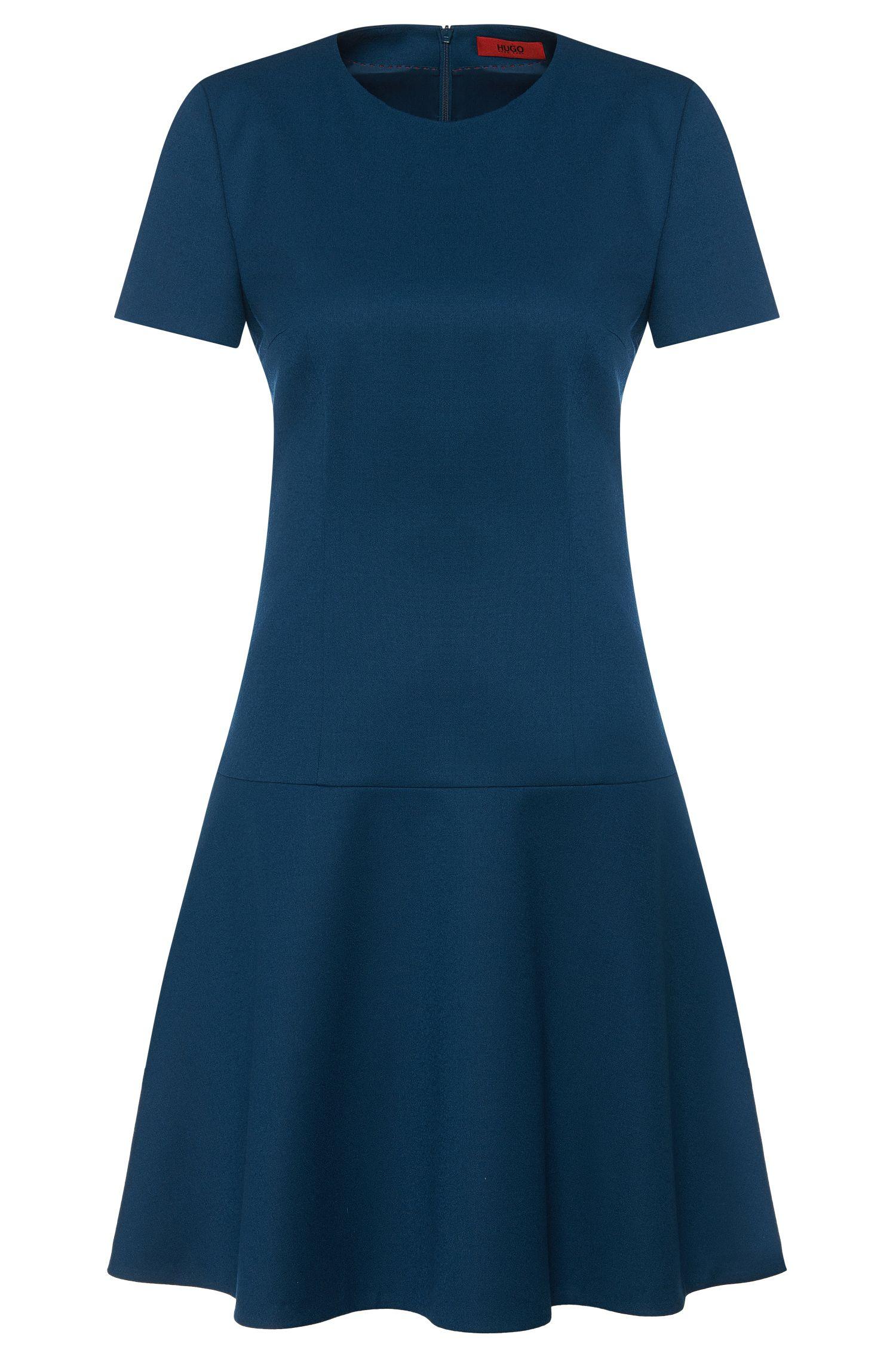 Kleid aus Stretch-Schurwolle mit herabgesetzter Taille: 'Kiril'