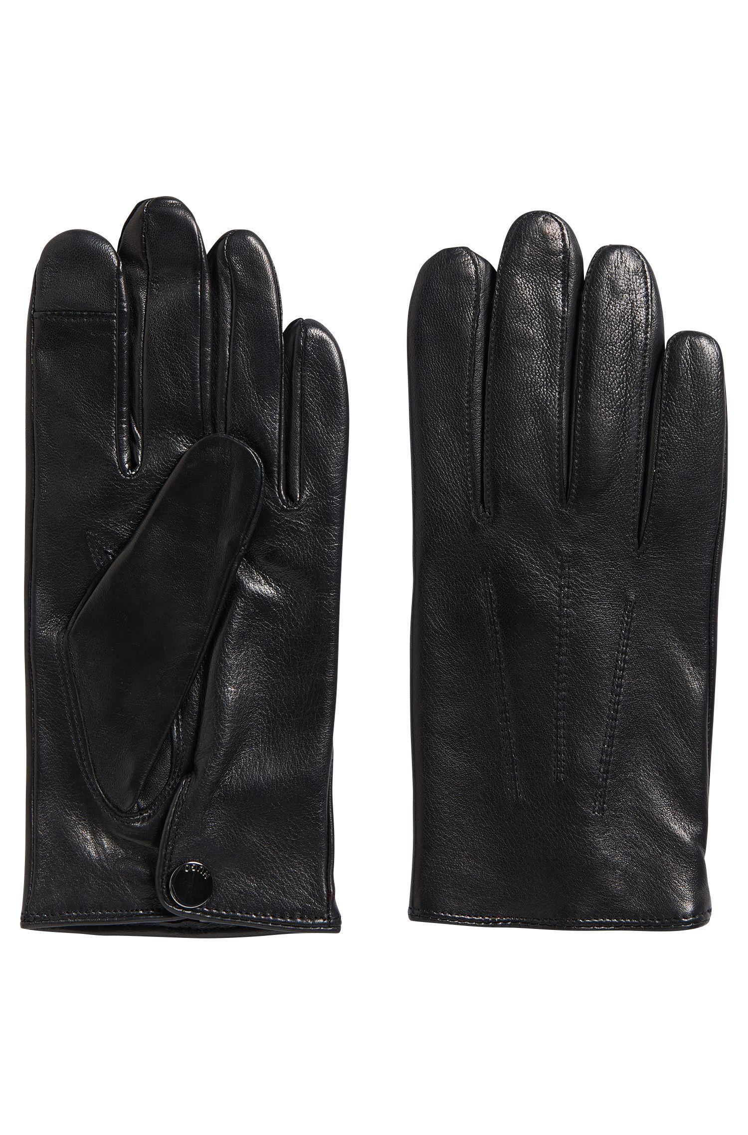 Handschoenen van fijngenerfd leer met screentouchfunctie: 'HH 50-1'