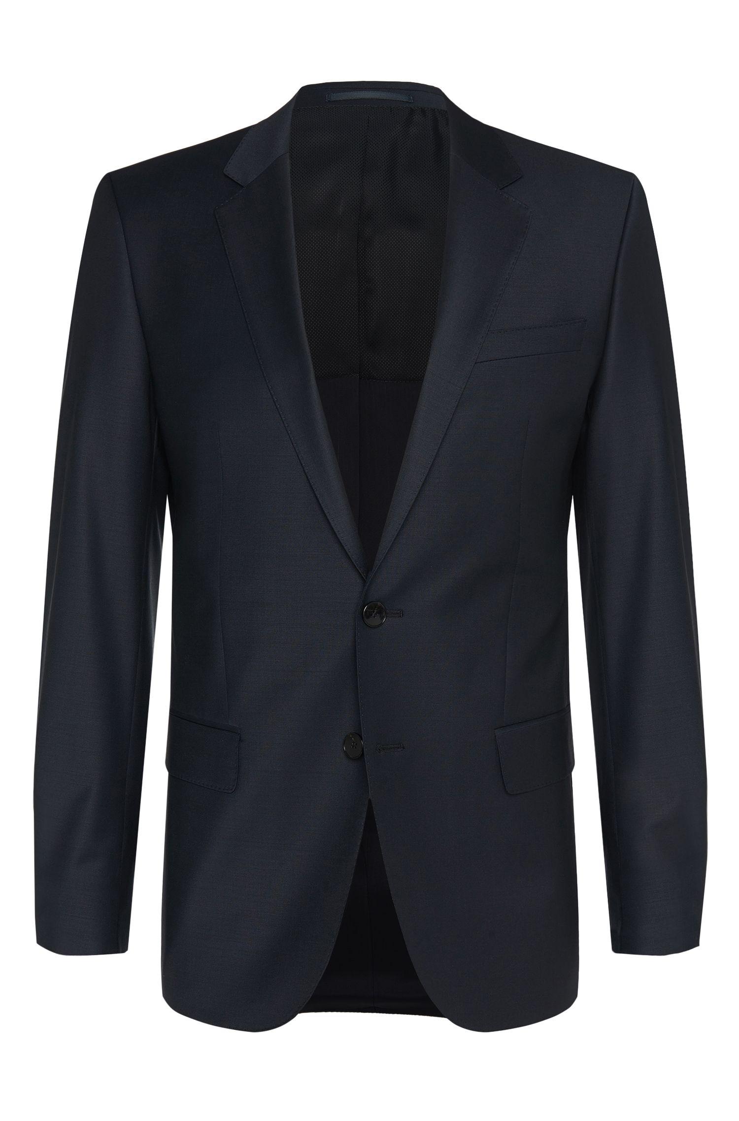 Veste de costume Slim Fit en laine vierge mélangée extensible: «Hayes_cyl»