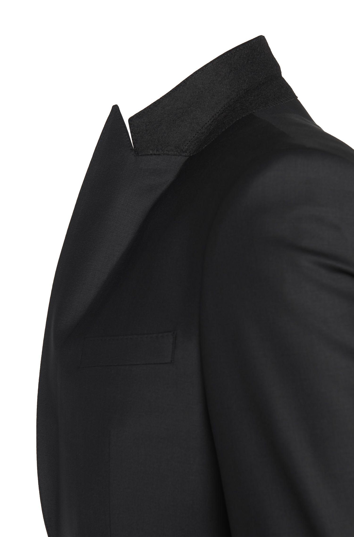Veste de costume Slim Fit en laine vierge mélangée: «Hold_cyl»