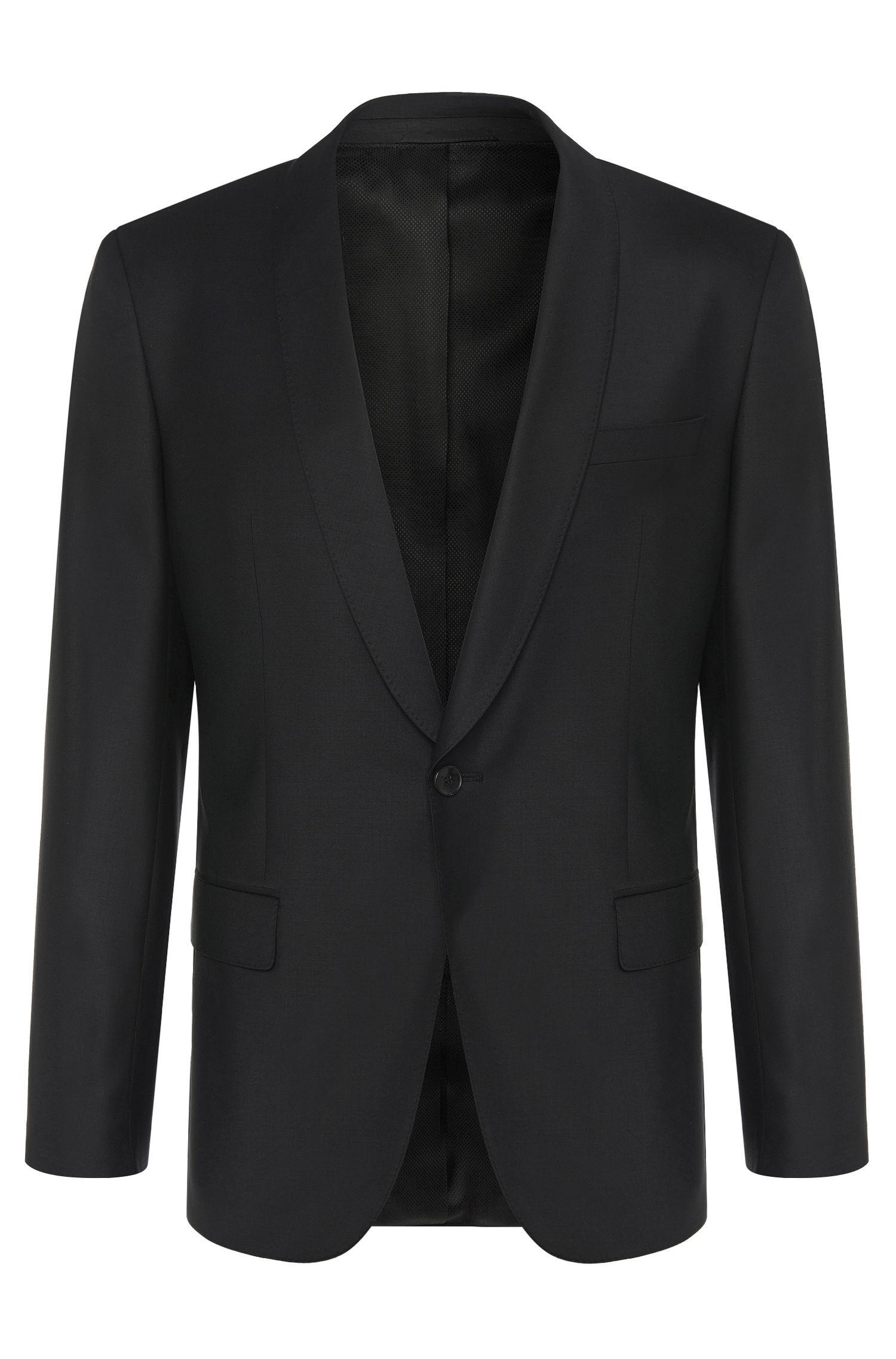 Giacca slim fit in misto lana vergine con elastan: 'Hyats_cyl'