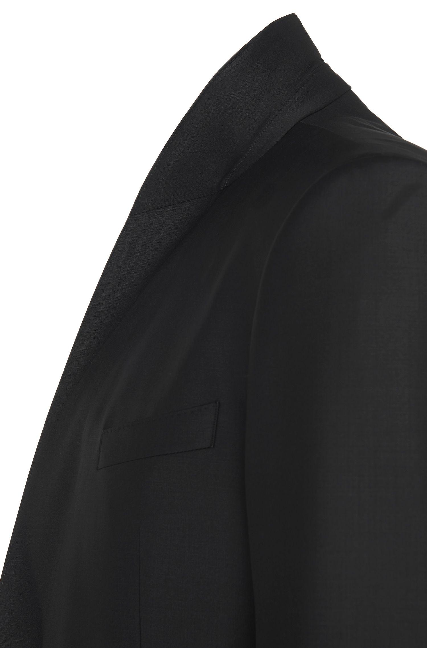 Veste de costume Slim Fit en laine vierge mélangée, avec de l'élasthanne: «Hyats_cyl»