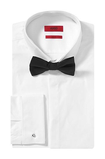Fliege ´Big bow tie` aus reiner Wolle, Schwarz