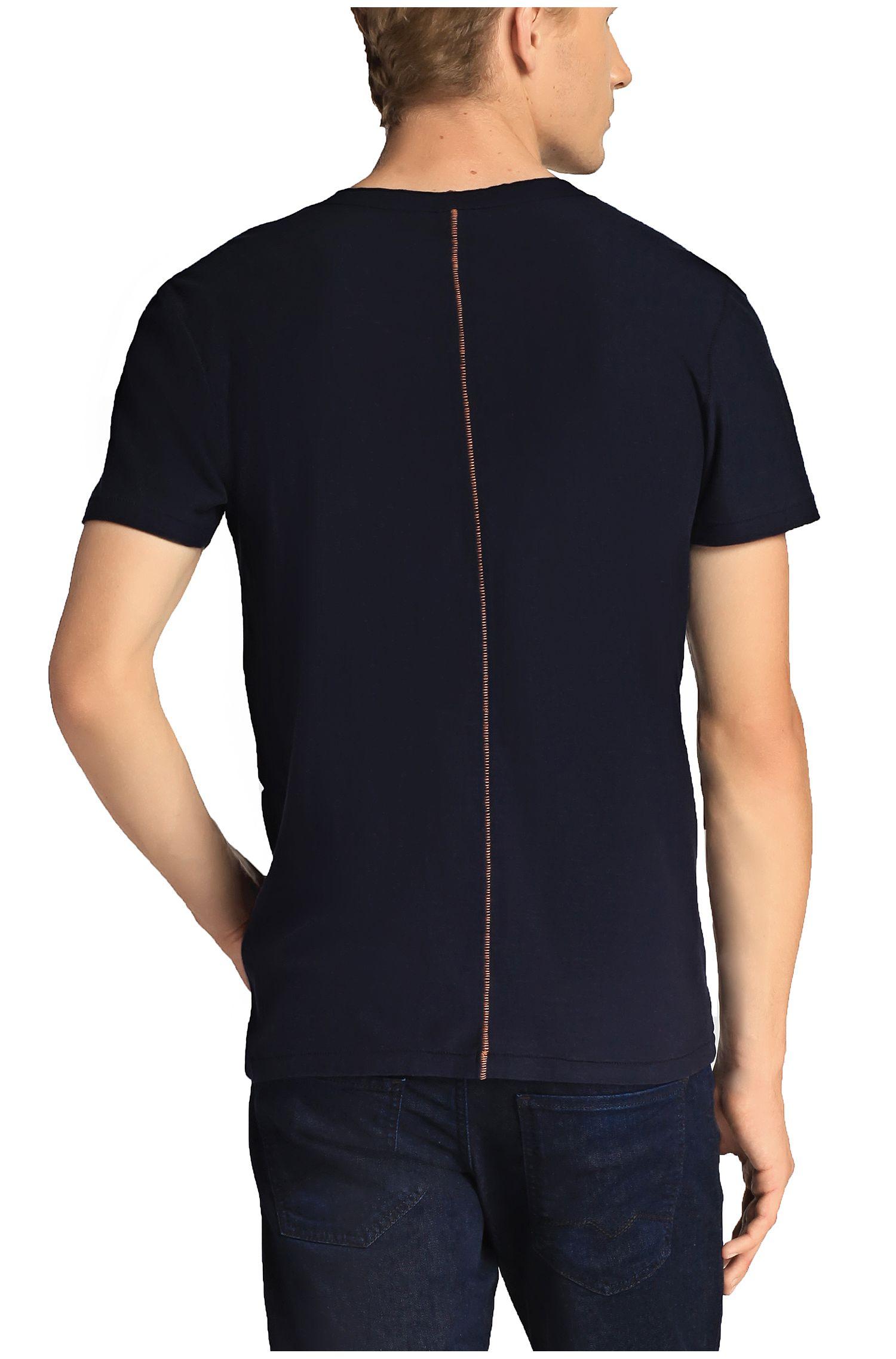 T-shirt à col V en jersey
