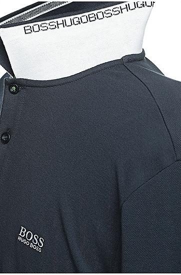 Langarm-Polo aus Baumwoll-Piqué: ´Plisy`, Dunkelblau