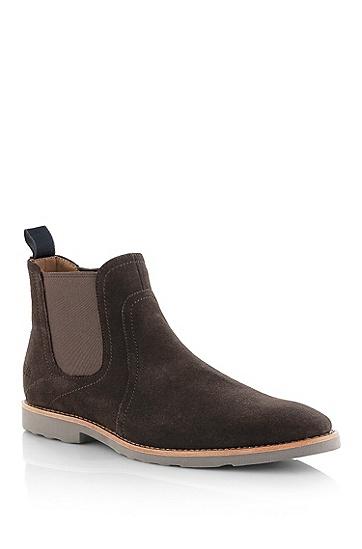 绒面中邦皮靴'Swiko',  202_暗棕色