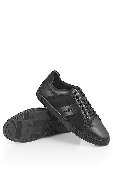 牛巴戈细节光滑真皮运动鞋 'Acrest',  001_黑色