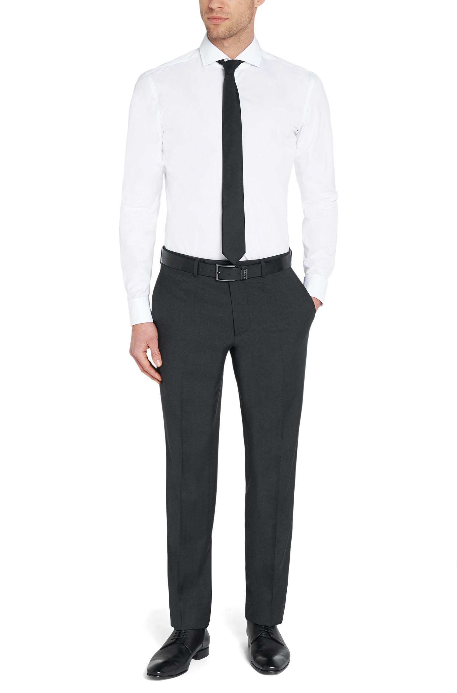 Slim-Fit Hemd aus Baumwolle mit Umschlagmanschetten: 'Jaiden'