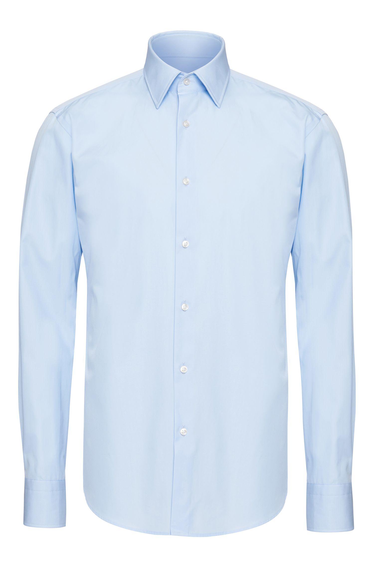 Camisa lisa regular fit en algodón: 'Enzo'