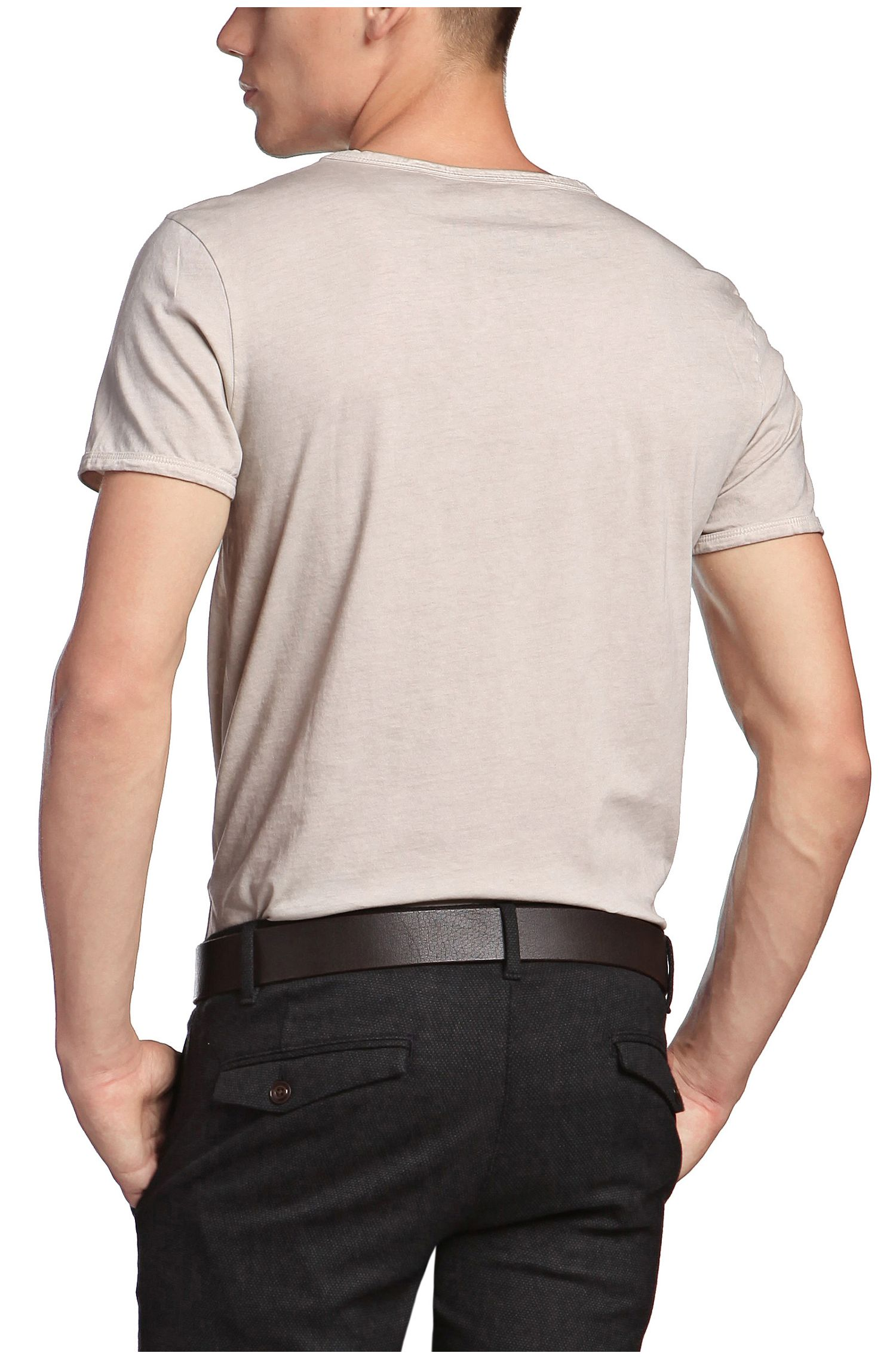 T-shirt 'Tour' met ronde hals