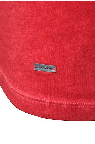 Slim-Fit T-Shirt mit Rundhalsausschnitt: ´Tour`, Rot