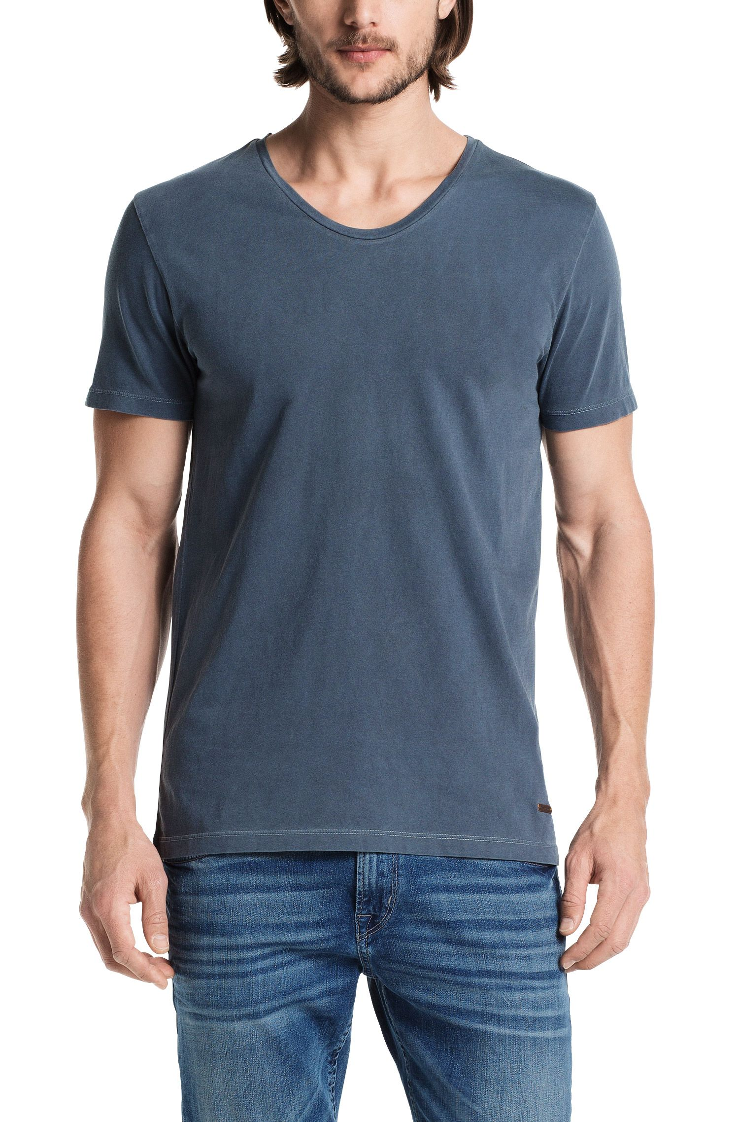 T-shirt 'Taxer' met ronde hals