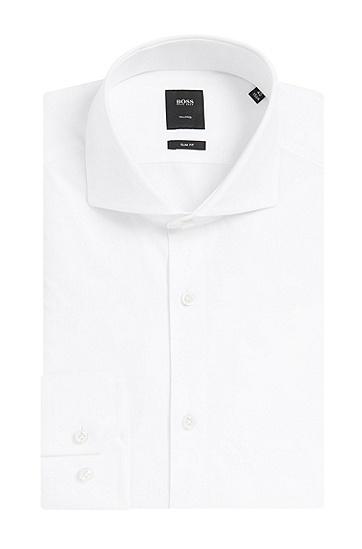 Slim-Fit Hemd aus Baumwolle: 'T-Christo', Weiß