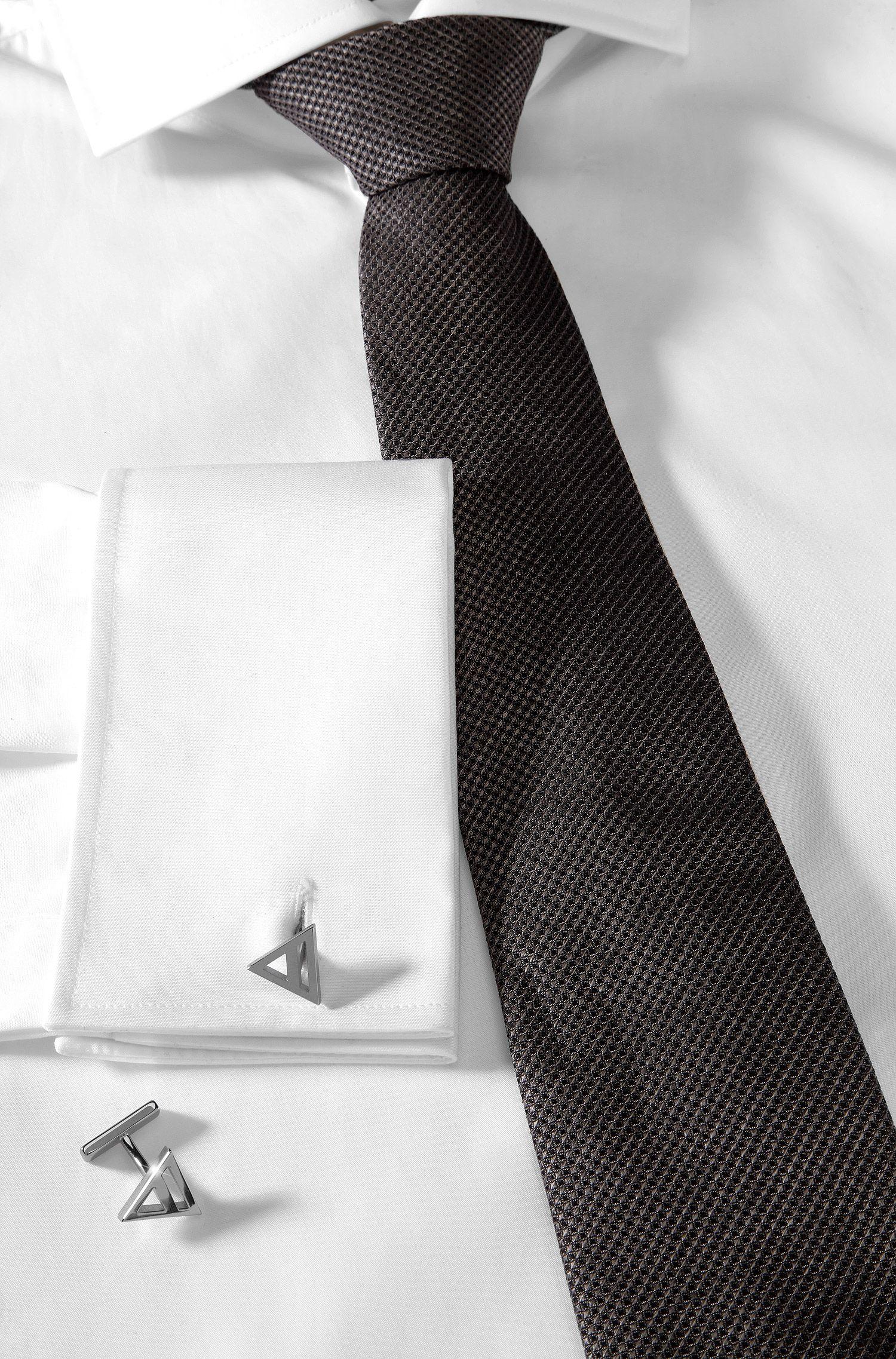 Manschettenknöpfe ´E-Air` aus glänzendem Messing
