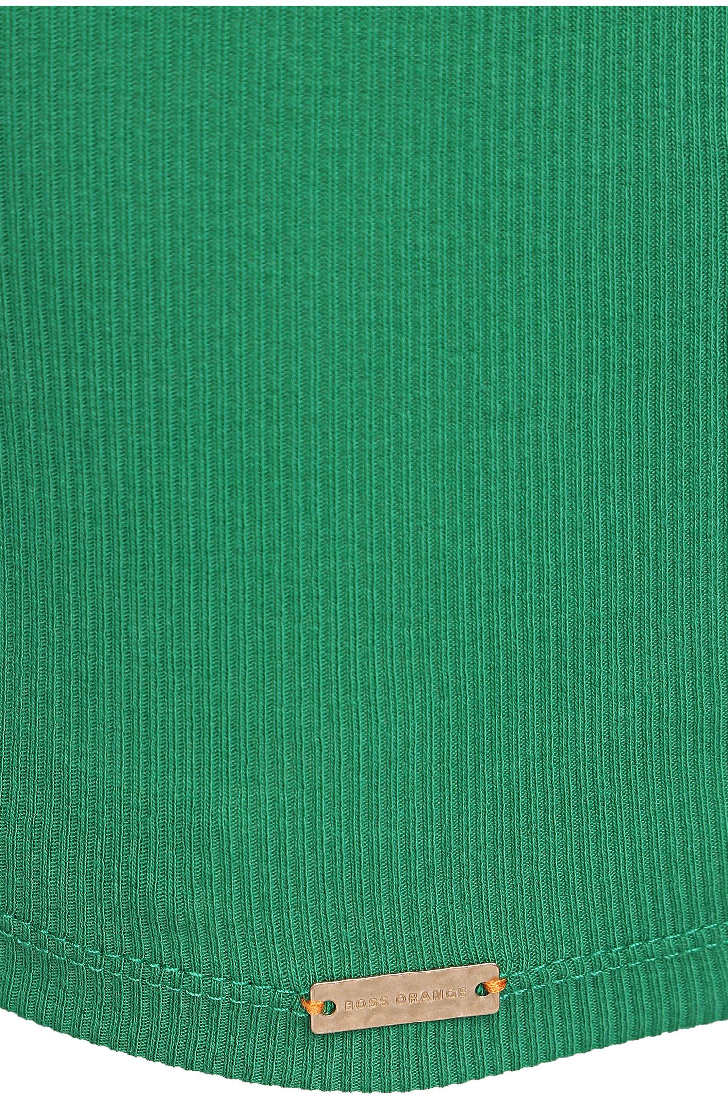 Unifarbenes Slim-Fit Tanktop aus Baumwoll-Mix: ´Thanxa`
