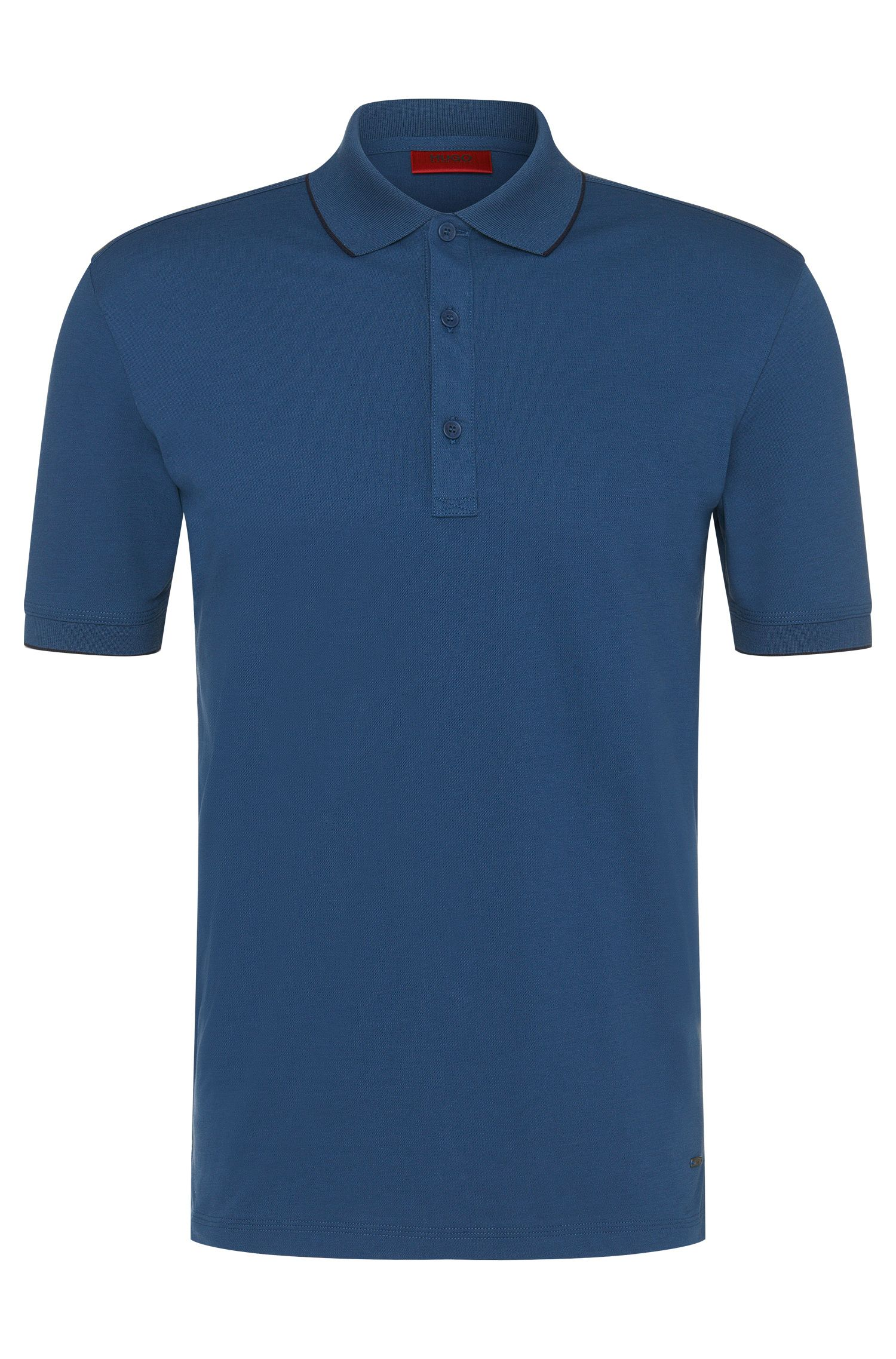 Polo regular fit in cotone elasticizzato: 'Delorian'