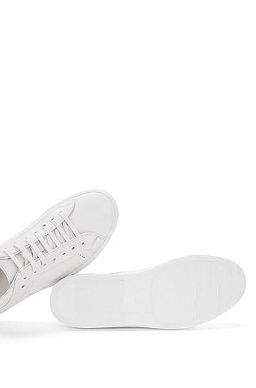 Unifarbene Sneakers aus Leder: 'Corynna', Weiß