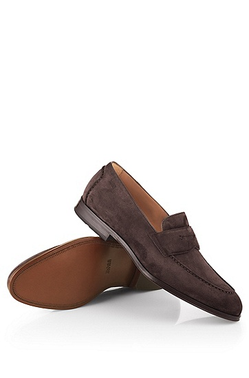 牛皮休闲男鞋'Stedeo',  201_暗棕色