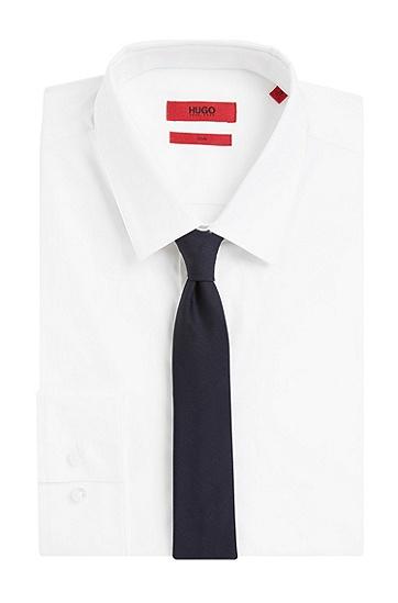 Cravate en laine: «Tie 6 cm self-tipped», Bleu foncé