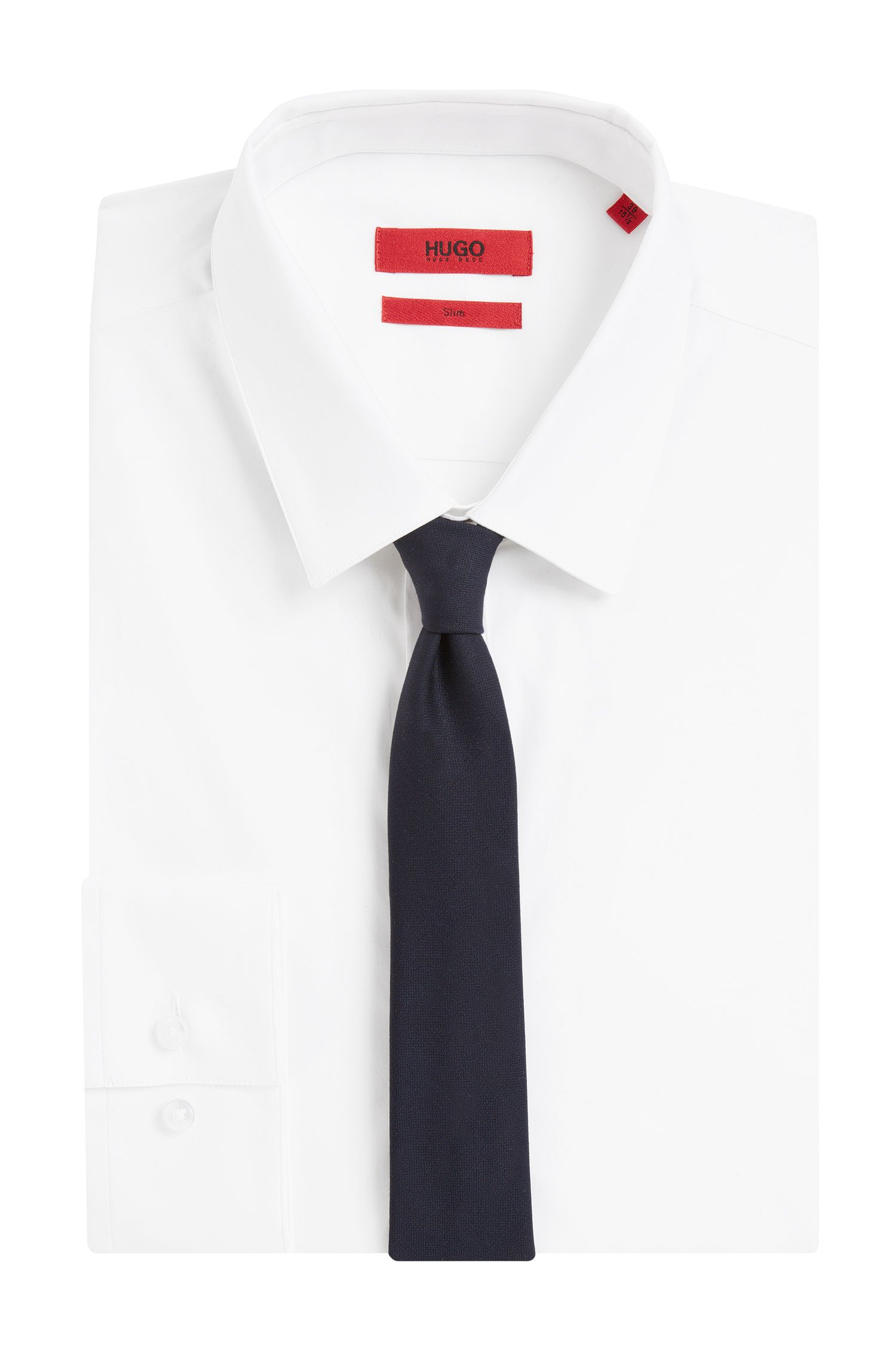 Cravate en laine: «Tie 6 cm self-tipped»