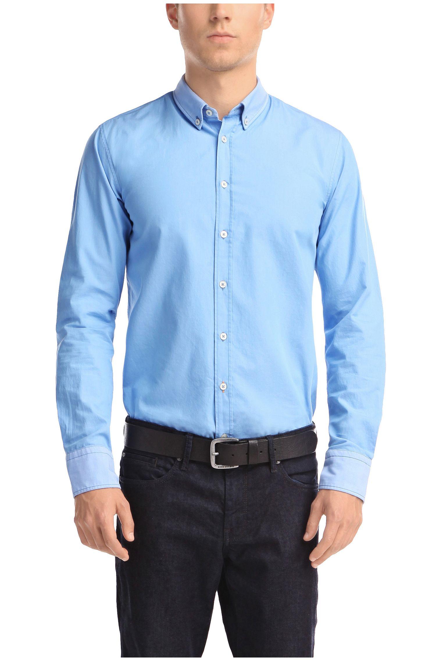 Slim-Fit Freizeit-Hemd ´EdipoE` aus Baumwolle