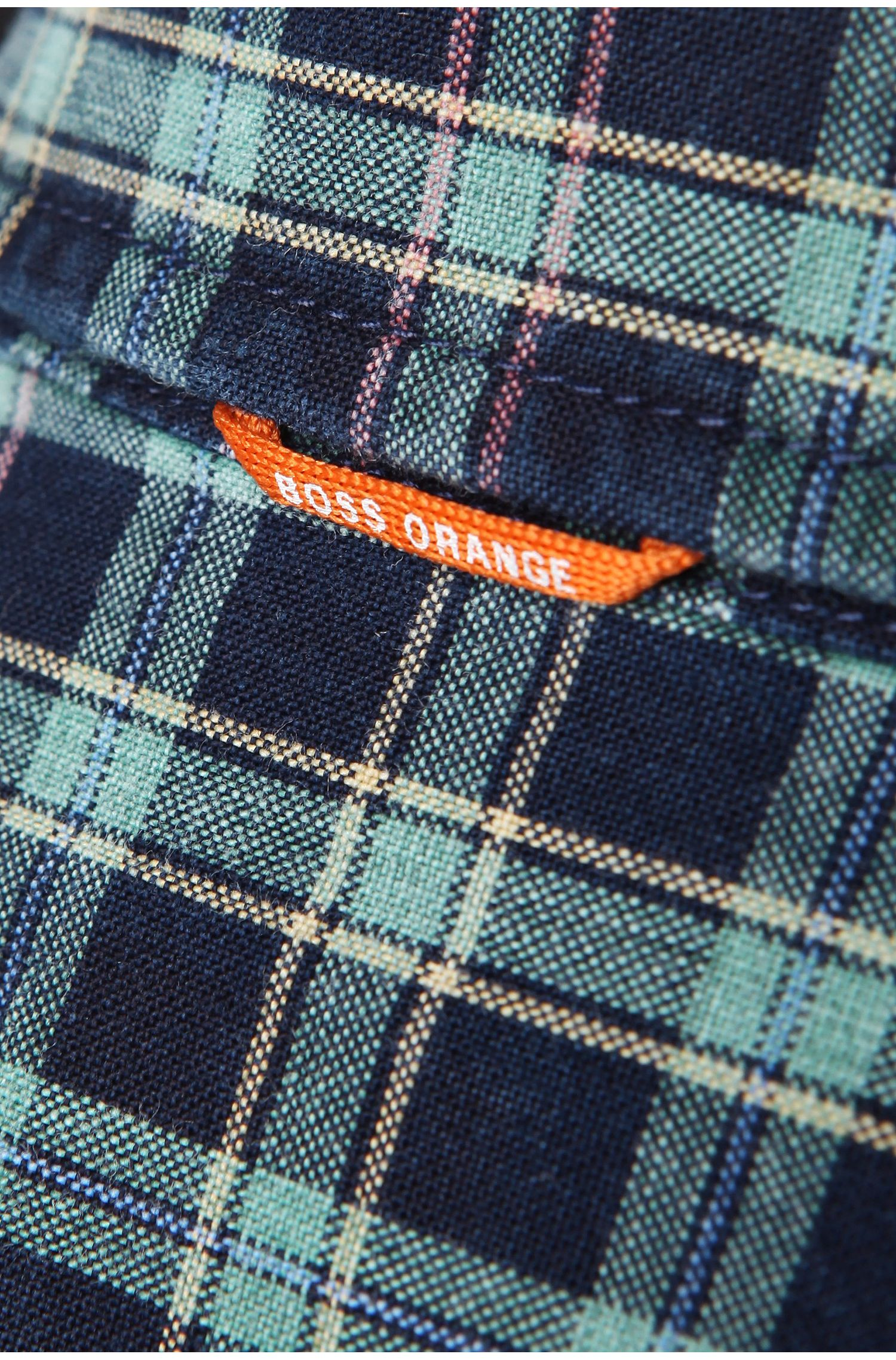 Slim-fit overhemd 'EdipoE' van katoen