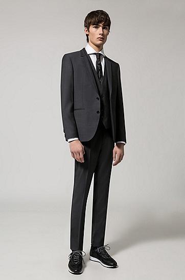 Slim-Fit-Hemd aus Baumwolle mit Cutaway-Kragen: 'C-Jason', Weiß