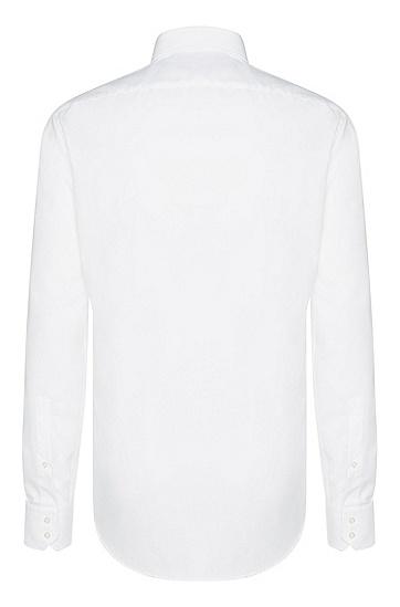 Unifarbenes Regular-Fit Hemd aus reiner Baumwolle: 'C-Enzo', Weiß