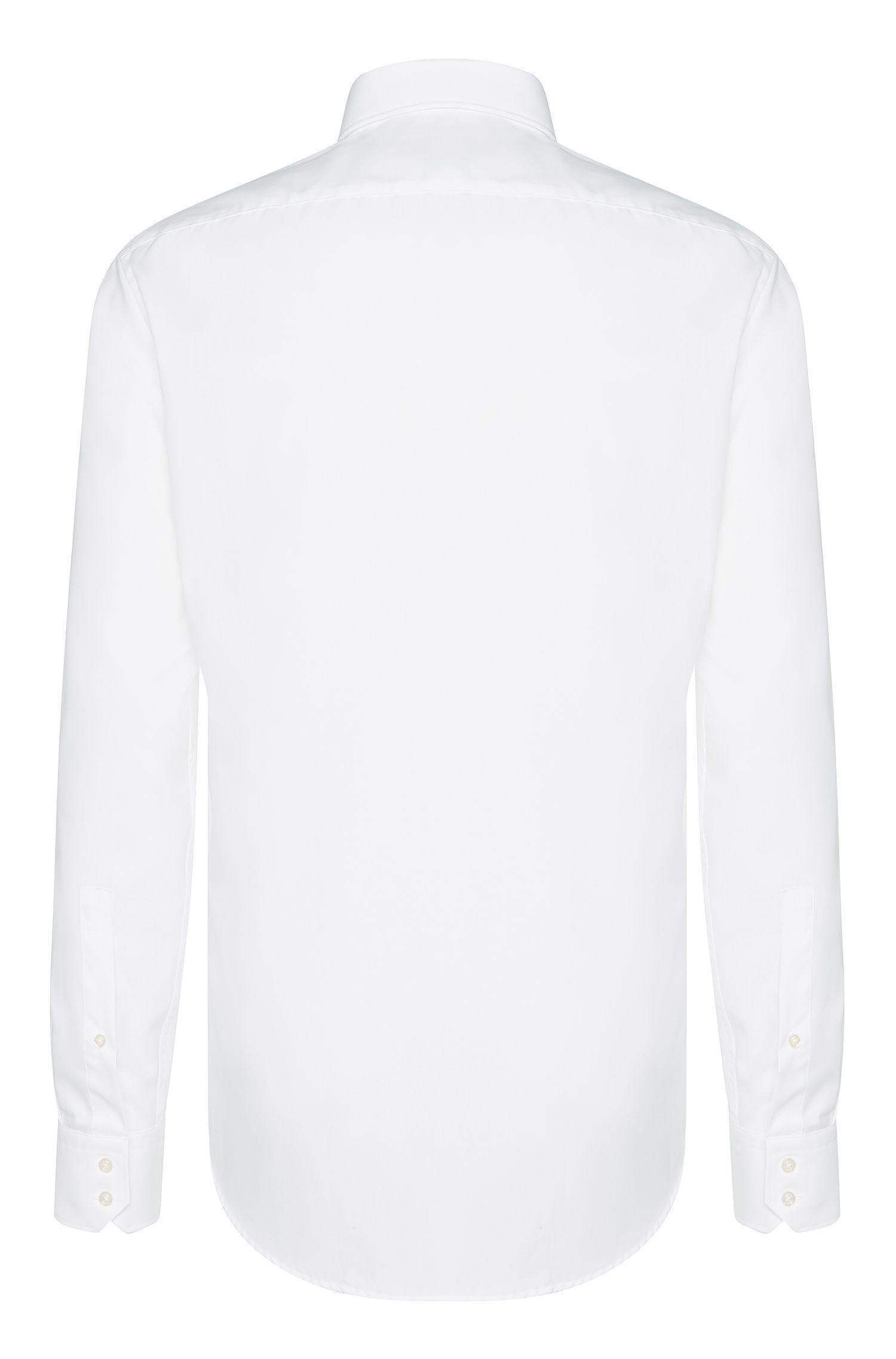 Chemise Regular Fit unie en pur coton: «C-Enzo»