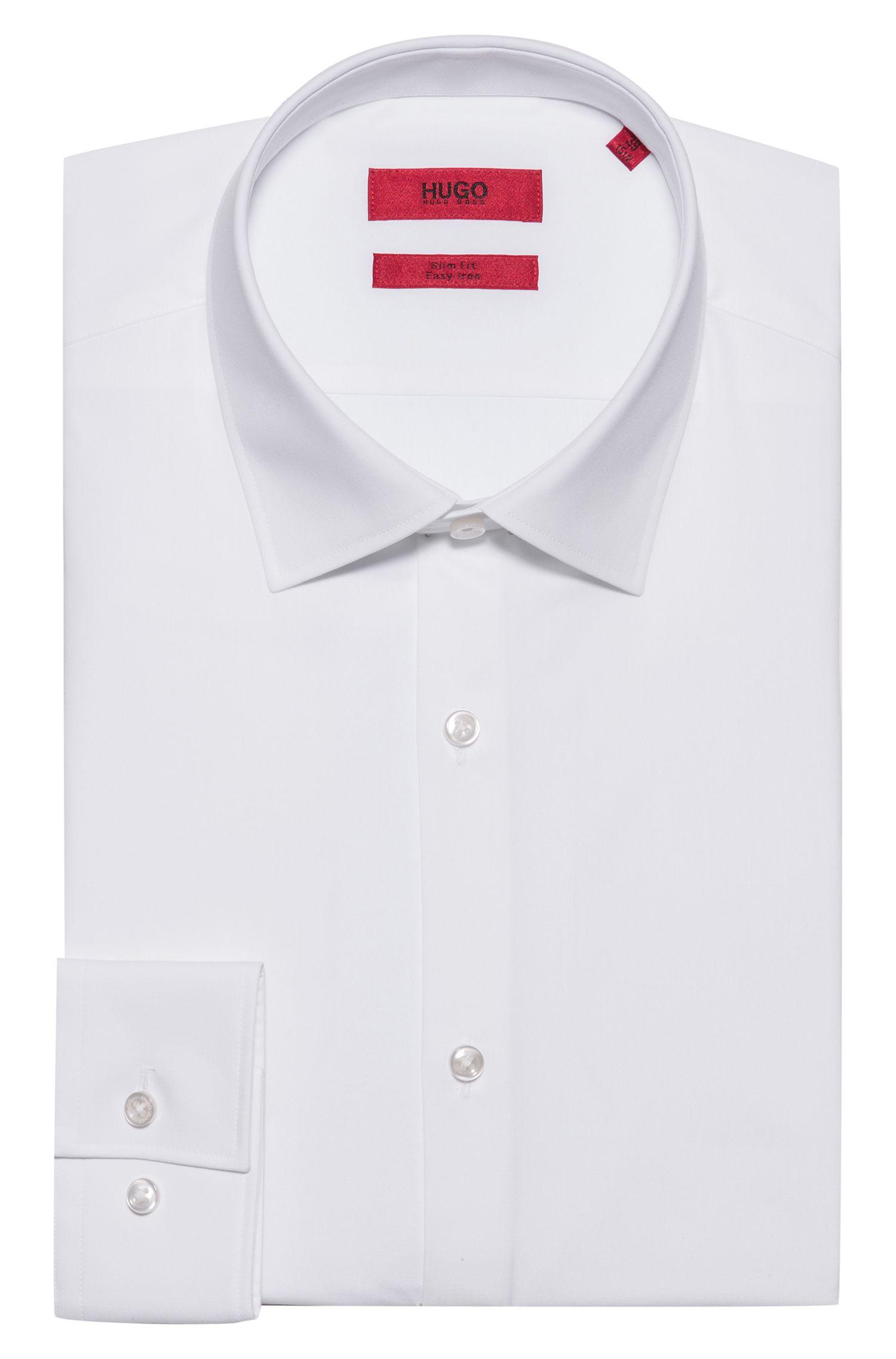 Unifarbenes Slim-Fit Hemd aus Baumwolle: 'C-Jenno'