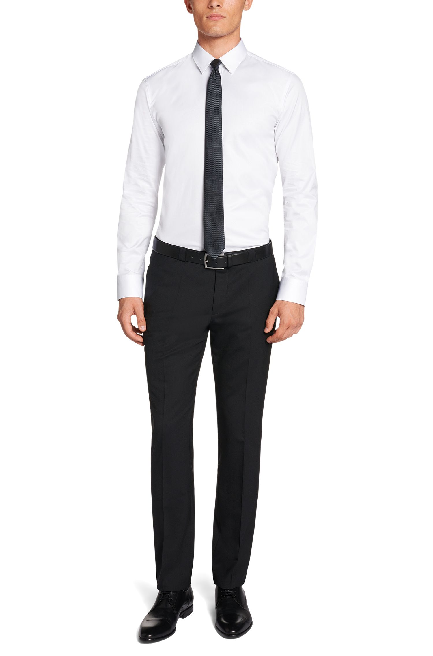 Slim-Fit Hemd aus Baumwolle: 'Elisha'